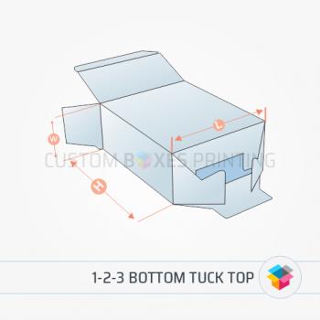 1-2-3 bottom tuck top