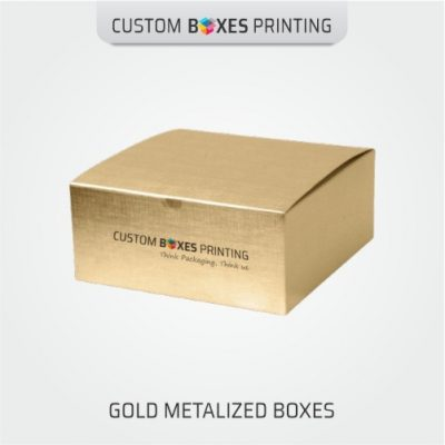 gold metalized boxes