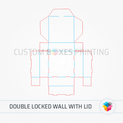 Double locked wall with lid