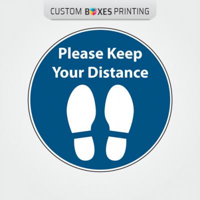 2m Social Distancing Floor Stickers